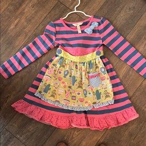 Matilda Jane Apron dress- size 4